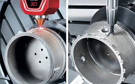 Laser deposition welding and 5-axis milling by DMG MORI